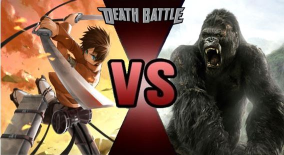 Eren Jaegerattack On Titan Vs King Kong2005 Spacebattles Forums