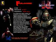 Killer Instinct - Fulgore's information as seen for the first Killer Instinct Game