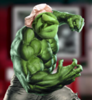The Incredible Hulk with his face replaced as seen in the Death Battle Bloopers - Ken VS Terry & Hulk VS Doomsday