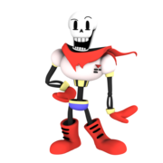 Papyrus from undertale render by nibroc rock-d9c1tak
