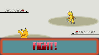 Pikachu Agumon Fight
