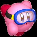 Kirby - Kirby while he's swimming underwater