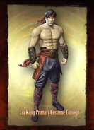 Mortal Kombat - Liu Kang's Costume Concept for Mortal Kombat 9