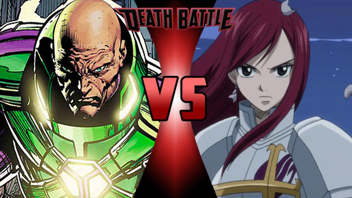 Lex Luthor vs E... Erza Scarlet Armor Types