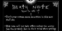 Rules of the Death Note