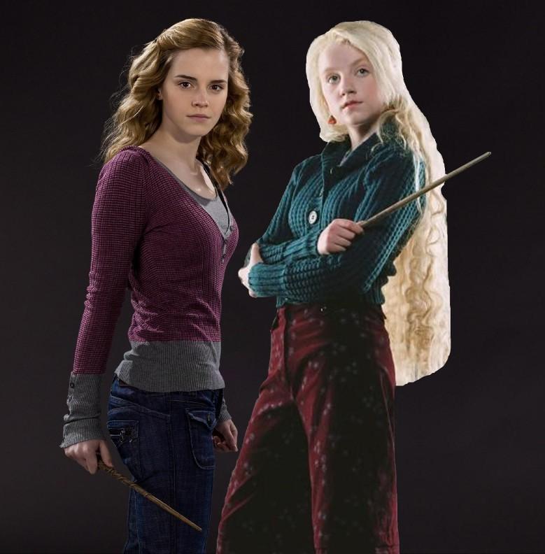 Image hermione granger and luna lovegood hbp hermione granger and luna lovegood friendship - Luna lovegood and hermione granger ...