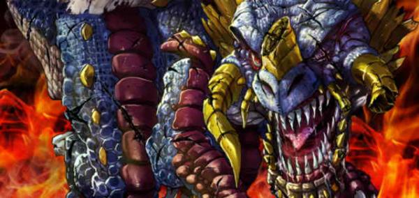 Gold Dragon Golganos Banner