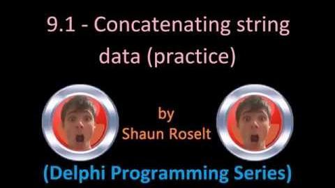 Delphi Programming Series 9.1 - Concatenating string data (Practice)
