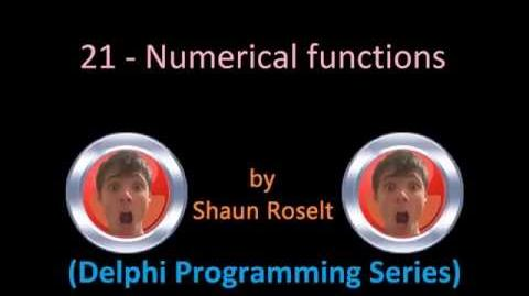 Delphi Programming Series 21 - Numerical functions