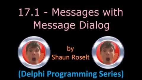 Delphi Programming Series 17.1 - Messages with Message Dialog
