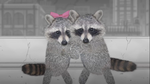 Raccoon and Mama-san reunite