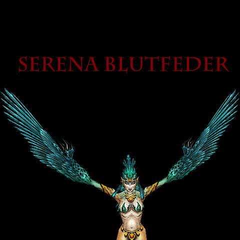 Serena Blutfeder war die Anführerin der Harpyien im nördlichen Brachland. Von ihr erbeuteten die Schwarzkiefer Lashkru's Stein.