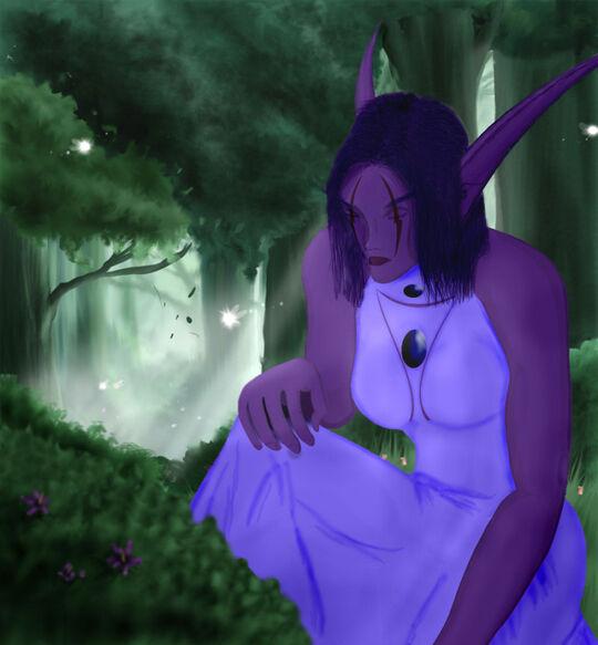 Aneena im Wald