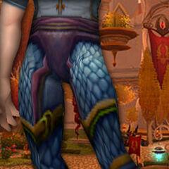 Blaue Drachenschuppengamaschen (K)