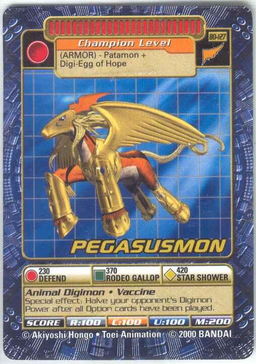 Card Pegasusmon Digimonwiki Fandom Powered By Wikia