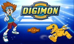 Digimon Game Start Screen