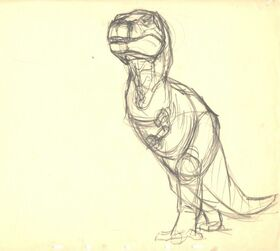 Drawing of T-rex 1