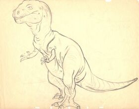 Drawing of T-rex 2