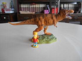 Bart Simpson e il t-rex