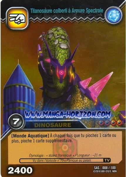 Image isisaurus spectral armor tcg card foreign jpg dinosaur king fandom powered by wikia - Carte dinosaure king ...