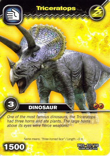 Triceratops dinosaur king fandom powered by wikia - Carte dinosaure king ...