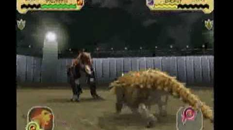 Dinosaur King Arcade Battle Scene Saurophaganax The Assassin to tyrant