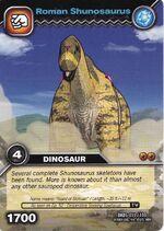 Shunosaurus-Roman TCG Card (German)