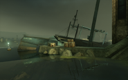 Abandoned whaling trawler