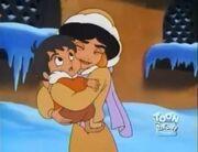 Jasmine hugs boy