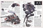 Snowspeeder and AT-ST cutaway