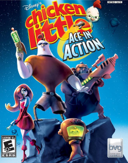 Chicken Little - Ace in Action video game cover