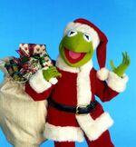 Kermit as Santa