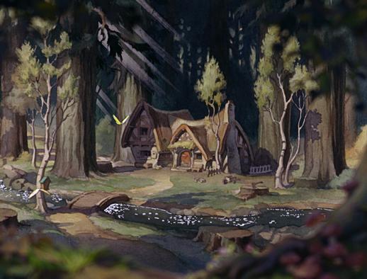 La casa de los siete enanitos disney wiki fandom - Casa de blancanieves y los 7 enanitos simba ...