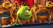 Mike Wazowski in front of the CDA