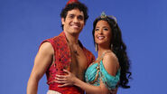 Aladdin and Jasmine on Aladdin the Broadway Musical 2