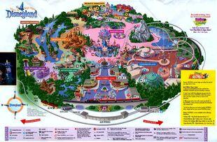 Disneyland 2001 map