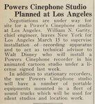 March 7 1929 sound equip