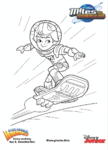 Miles from Tomorrowland colouring pages 4