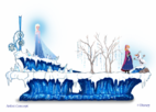Frozen pre-parade float concept