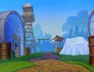 Goof Troop - Spoonerville Army Depot - Entry Gate with Water Tower