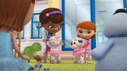 Doc, alma, lambie and moo-moo