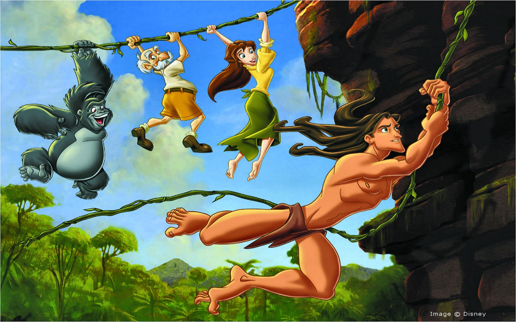 Image the legend of tarzan disney wiki - Tarzan wallpaper ...