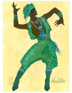 Aladdin the Musical Costume Sketch 4