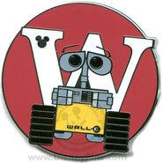 W Wall-E Pin