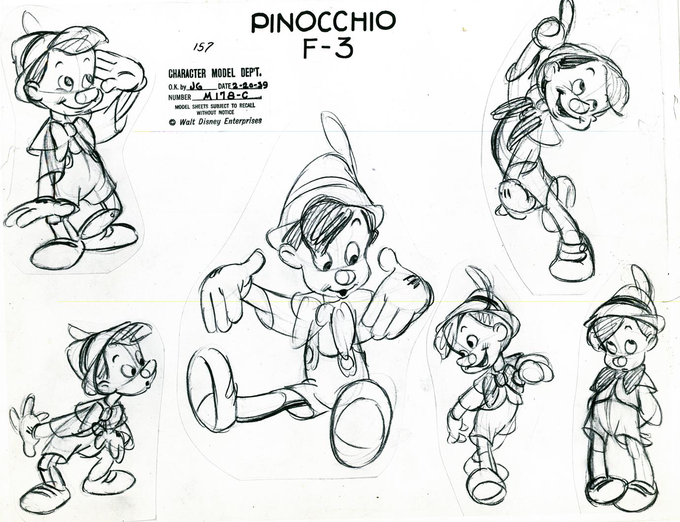 Character Design Tutorial Dvd : Image pinocchio model sheet g disney wiki fandom