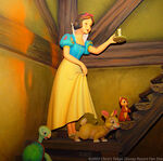 Snow White going Upstairs in Snow White's Adventures from Tokyo Disneyland