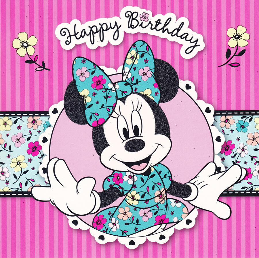 image  disney minnie mouse square birthday card ., Birthday card