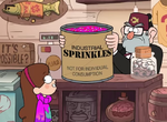Mabel and stan with sprinkles