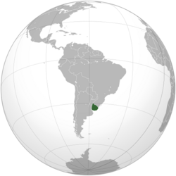 Uruguay (orthographic projection)