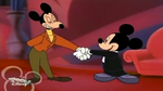 Mortimer shake hands with Mickey